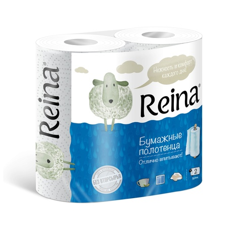 Paper towels Reina 2 ply 2 pcs / pack