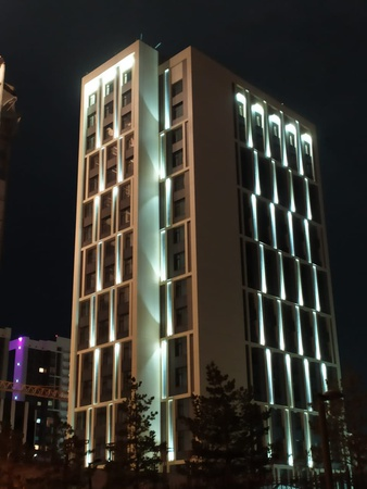 Architectural lighting of facades of buildings and structures