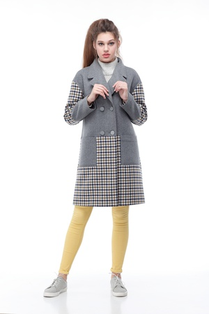Plaid coat Italy