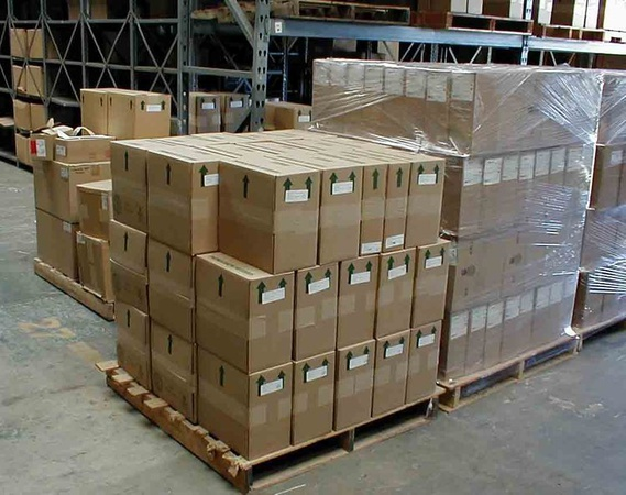 Transshipment of goods on pallets