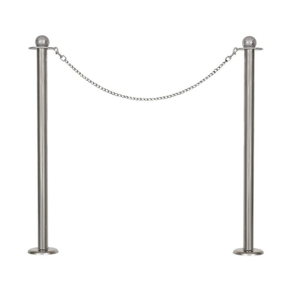<p>Hello, we need decorative fencing, bollards with chains, colors chrome, gold, silver. Amount: 100 pieces, Height 80 cm</p>